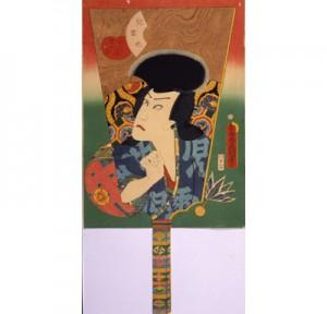 羽子板絵 初代河原崎権十郎の「児雷也(じらいや)」/ 1862年(文久2)
