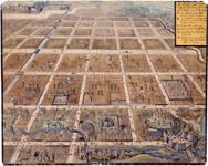 1657年3月4日火事にあった江戸市街の図