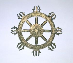 金銅三鈷輪宝