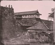 重要文化財 旧江戸城写真ガラス原板上梅林門と二ノ丸喰違門