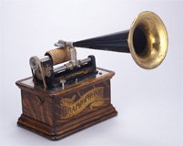 円筒式蓄音機