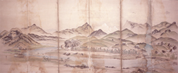 津山指定文化財 津山景観図屏風