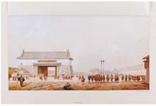江戸 江戸城の城壁と北門