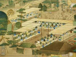 坂昇春画「赤坂御庭図(部分)」文政末期(1827~30)和歌山市立博物館蔵