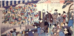 歌川国芳画「百種接分菊」弘化2年(1845) 当館蔵