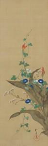 酒井抱一(さかいほういつ)「 十二ヶ月花鳥図」(じゅうにかげつかちょうず)江戸時代/ 19 世紀 絹本着色 12 幅対