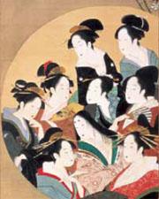 「円窓九美人図」(部分)