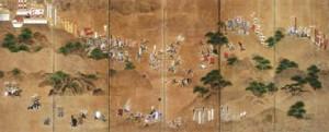 賤ケ岳合戦図屏風(右隻)画像