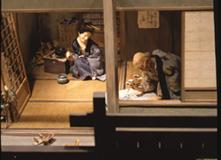北斎の画室(縮尺1/5) 当館模型