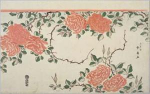 勝川春好(二代)「薔薇図」