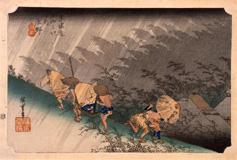 東海道五拾三次之内 庄野(しょうの) 白雨