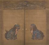 賢聖障子 獅子・狛犬・負文亀