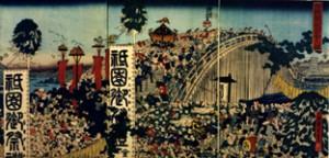 両国橋祇園会之図 歌川芳富/画