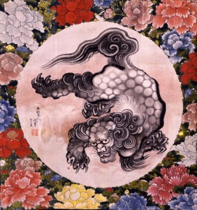 葛飾北斎「唐獅子図」(弘化元年) Photography (c) 2006 Museum of Fine Arts, Boston. All rights reserved.