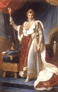 フランソワ・ジェラール 《載冠式の正装の皇帝ナポレオン》 ©Jean-Marc Manai,Chateau de Versailles