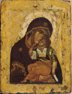 イコン「憐れみの聖母」 14世紀後半 モスクワ ©Moscow Kremlin Museums