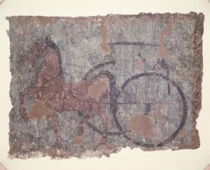 「車馬出行壁画(しゃばしゅっこうへきが)」 後漢時代 1-2世紀 陝西省考古研究所蔵
