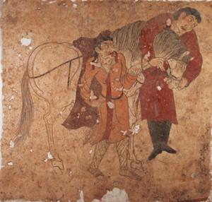 壁画「献馬図」