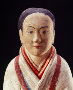 「彩色女俑(さいしきじょよう)」(部分) 前漢時代 前2世紀 漢陽陵考古陳列館蔵
