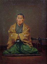 近藤勇肖像画 油絵 (小島資料館蔵)