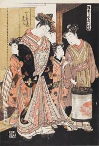 礒田湖龍斎 「雛形若菜の初模様 がくたはらや内 れん山」