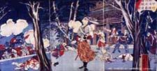 甲州勝沼にて近藤勇驍勇の図 (小島資料館蔵)