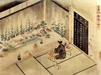 久留米藩士江戸勤番長屋絵巻の画像