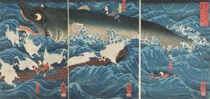 歌川国芳 「讃岐院眷属をして為朝をすくふ図」