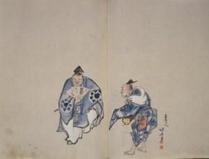 万歳図 (肉筆・『風流勧化帖』より) 1804年(文化元)頃 当館蔵
