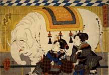 歌川芳虎 流行菊花揃 染井植木屋金五郎  弘化元年(1844) 館蔵