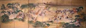 七卿落図屏風 大正時代 京都府蔵(京都文化博物館管理)