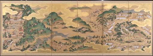 日光東照社参詣図屏風 江戸時代 江戸東京博物館蔵