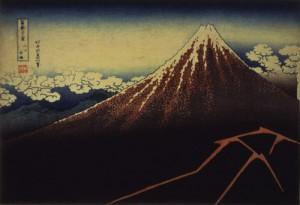 冨嶽三十六景 山下白雨 1832年(天保2)頃