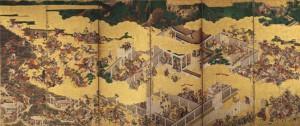 [一の谷・屋島合戦図屏風] (右隻) 江戸時代/神戸市立博物館蔵