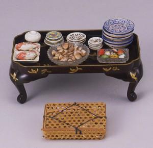 蜷川家伝来の雛道具  桃の節句を祝う食物と器 江戸末期