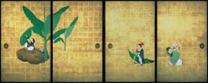 重要文化財「郭子儀図襖絵」(部分) 天明8年(1788) 兵庫・大乗寺蔵