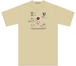 目玉の親父Tシャツ アイボリー