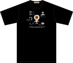 目玉の親父Tシャツ ブラック