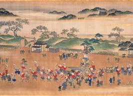 狩野素川彰信「江都四時勝景図巻」 (九月 神田神社の祭)(部分) 文化13年(1816)