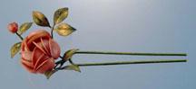 真鍮薔薇花簪