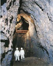 石見銀山遺跡の坑道