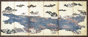 隅田川図屏風