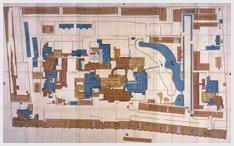 浅野長矩が事件直前まで生活していた 江戸鉄炮洲上屋敷 (現在の中央区明石町)の絵図