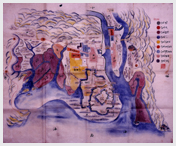 赤穂城請取のとき作成された 赤穂城下とその近辺の絵図