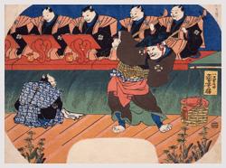 「猫の歌舞伎」歌川国芳/画  館蔵 「菓子入れ」 館蔵
