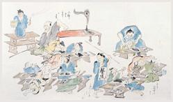 「近世職人絵尽」 より寺子屋の様子 狩野晏川/画 1890年(明治23)