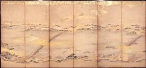 隅田川風物図屏風 左隻