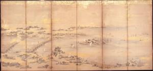 隅田川風物図屏風 右隻