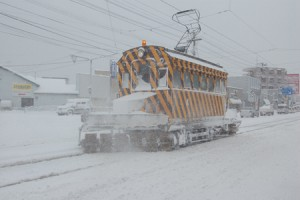 「函館市電除雪車両(ササラ電車)」実車