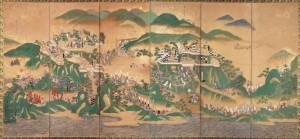 「賤ケ岳合戦図屏風」(左隻)